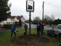 New flowerbed in village